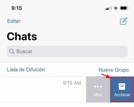 ocultar contactos en iOS
