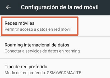 Activar los datos móviles en Android en diferentes dispositivos paso 2