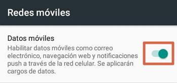 Activar los datos móviles en Android en diferentes dispositivos paso 3