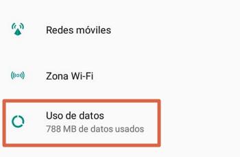 Activar los datos móviles en Android paso 1