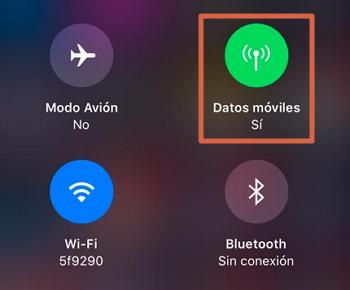 Activar los datos móviles en iOS rápidamente con icono en centro de control