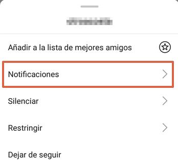 Cómo activar notificaciones de publicaciones en Instagram paso 4