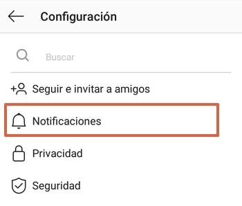 Cómo activar notificaciones push en Instagram paso 4