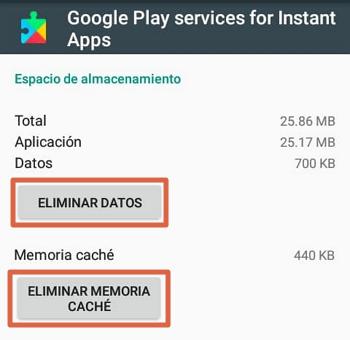 Play Store no funciona solución borrar la caché de Google Play Services