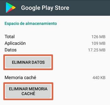 Play Store no funciona solución borrar la caché y los datos de la app