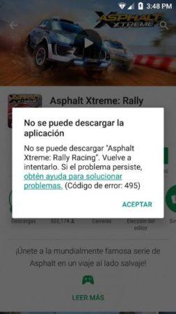 error 495 google play