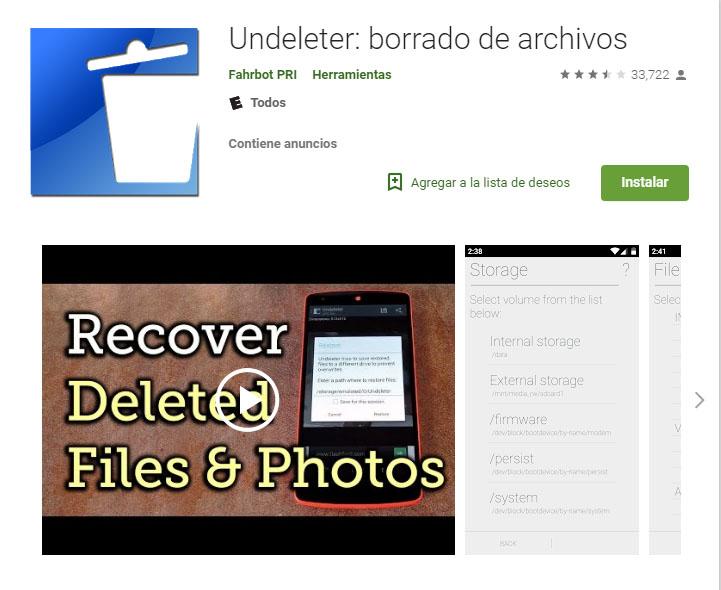 Cómo recuperar fotos borradas en Android