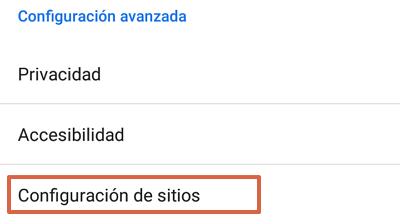 Cómo activar los permisos en Google Chrome paso 3