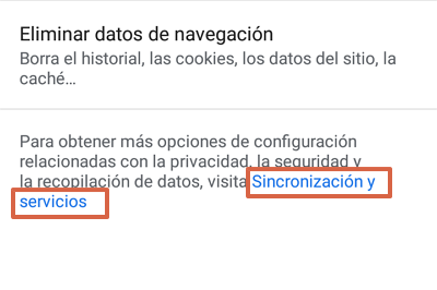 Cómo bloquear páginas web en Google Chrome para Android desde las configuraciones paso 4