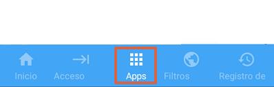 Cómo bloquear páginas web en Google Chrome para Android utilizando Cortafuegos sin root paso 3.