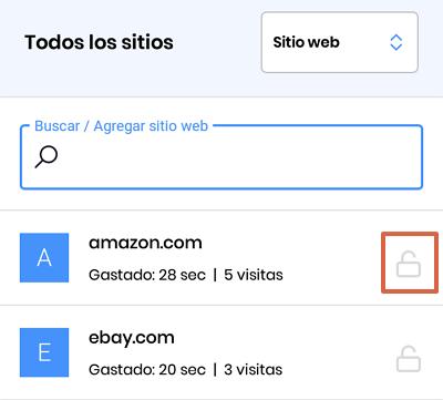 Cómo bloquear páginas web en Google Chrome para Android utilizando Stay Focused paso 5