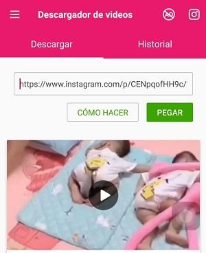 Cómo descargar un video de Instagram utilizando aplicaciones paso 5