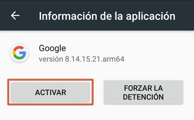 Cómo habilitar la barra de Google en Android paso 3