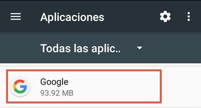 Cómo quitar la barra de Google en Android inhabilitando Google app paso 3