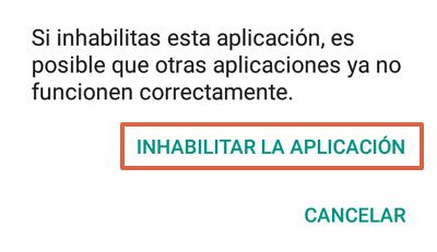 Cómo quitar la barra de Google en Android inhabilitando Google app paso 5