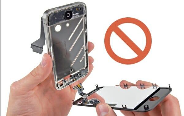 no desarmar el celular