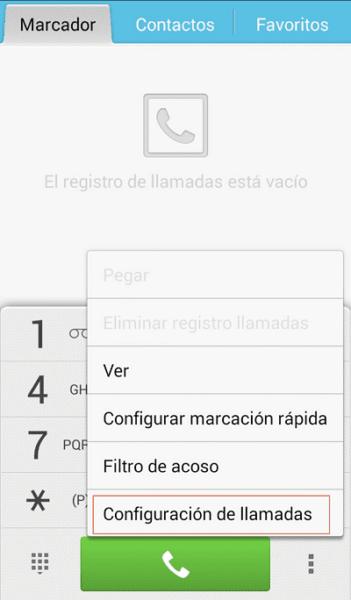 Activar numero oculto desde menu de llamadas paso 3