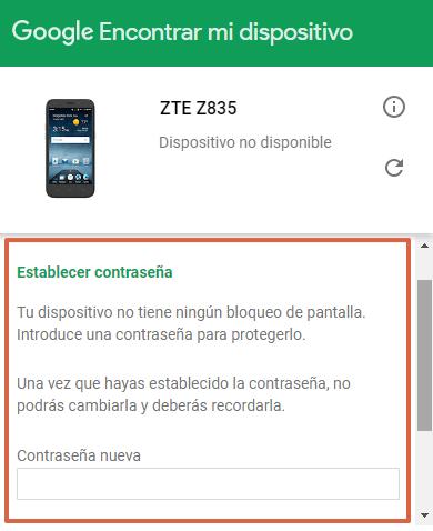 Bloquear celular robado Android paso 4.