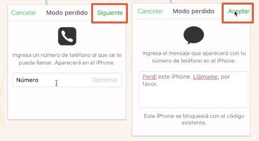 Bloquear celular robado iPhone paso 7