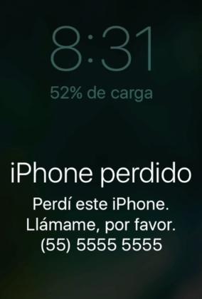 Bloquear celular robado iPhone paso 8