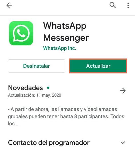 Cómo actualizar WhatsApp a su última versión en Android