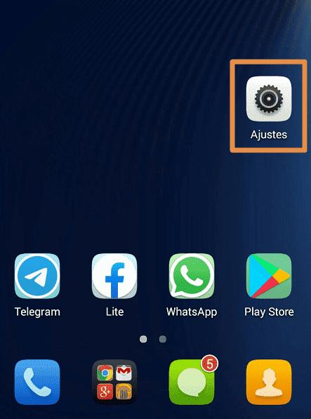 Cómo actualizar WhatssApp a su últim versión con archivo .apk paso 1