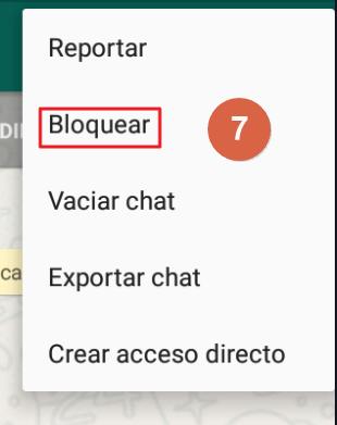 Cómo bloquear un grupo de WhatsApp paso 7