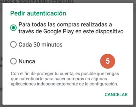 Cómo desactivar las compras de Google Play Paso 5