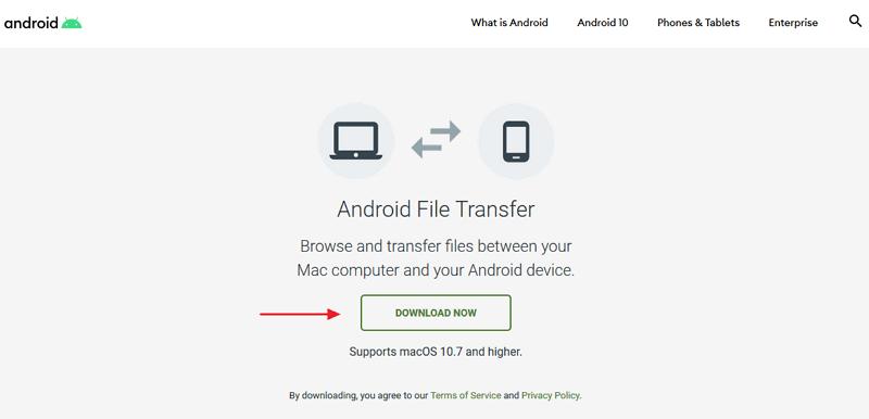 Cómo descargar Android File Transfer pagina oficial