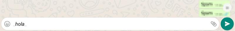 Cómo poner cursivas en WhatsApp