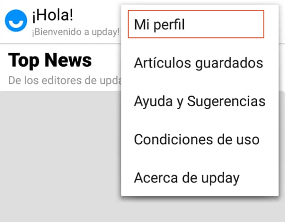 Desactivar notificaciones de UpDay paso 3.