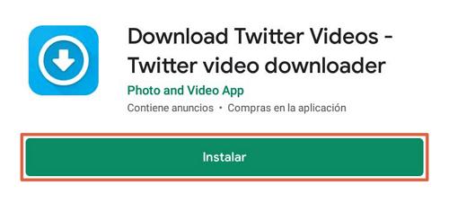 Descargar videos Twitter paso 1