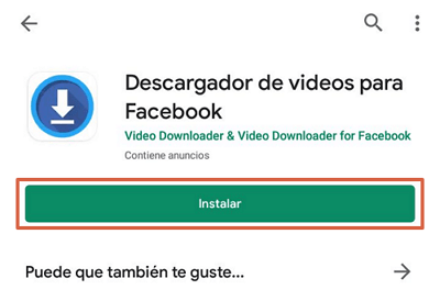 Descargar videos de facebook gratis app para Android paso 1