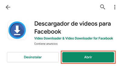 Descargar videos de facebook gratis app para Android paso 2
