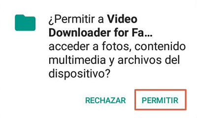 Descargar videos de facebook gratis app para Android paso 3.