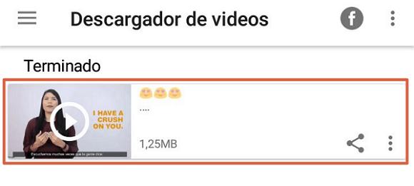 Descargar videos instagram paso 3
