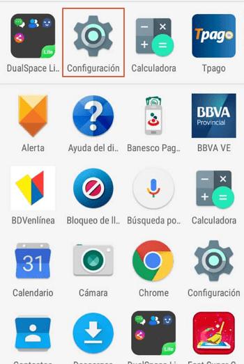 Eliminar cuenta de Google desde el Smartphone paso 1