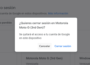 Eliminar cuenta de Google desde la web paso 6