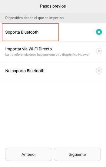 Importar contactos desde otro dispositivo usando Bluetooth paso 4