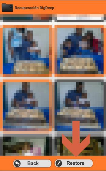 Recuperar imágenes con Digdeep paso 3
