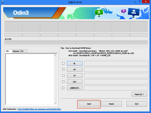 Solucionar error Custom binary blocked con Odin desde la PC paso 5
