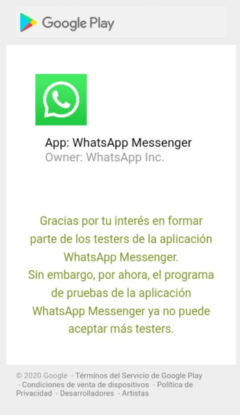 WhatsApp Beta Paso 2