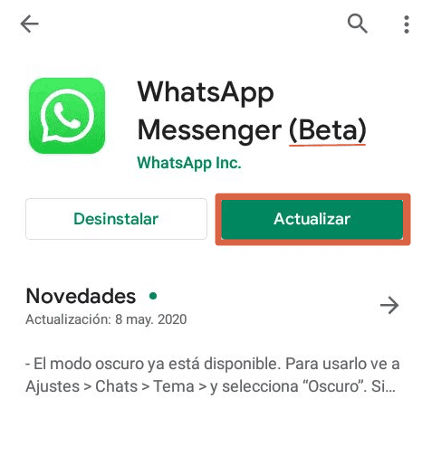 WhatsApp Beta Paso 5