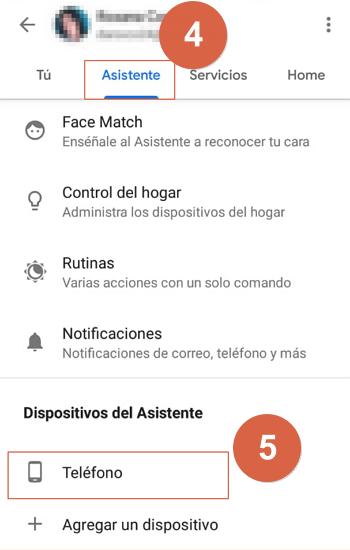 desactivar asistente google desde la app paso 4 y 5