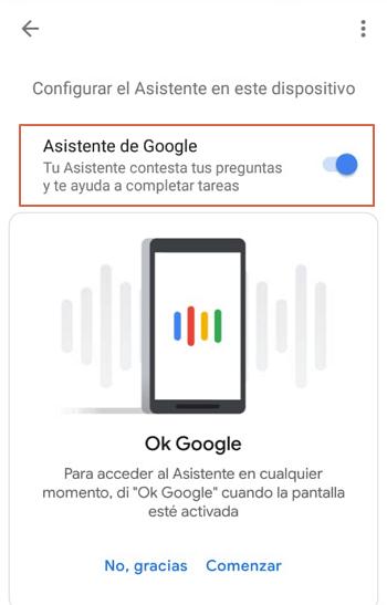desactivar asistente google desde la app paso 6
