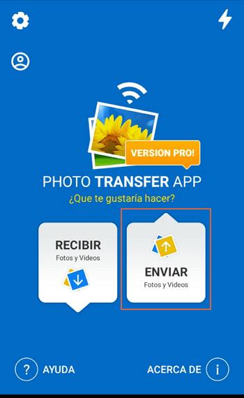 enviar fotos con photo transfer desde el telefono 1