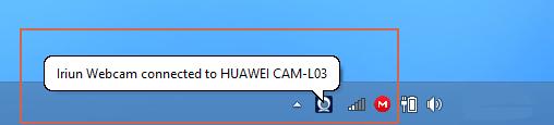 usar Iriun Webcam paso 2