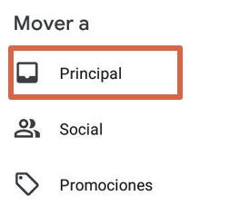 Acceder a papelera de reciclaje de Gmail paso 6