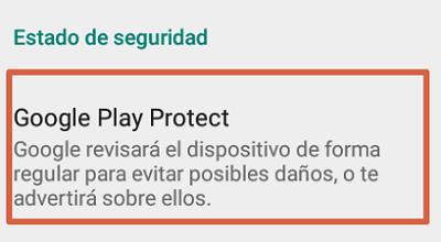 Activar Google Play Protect 3