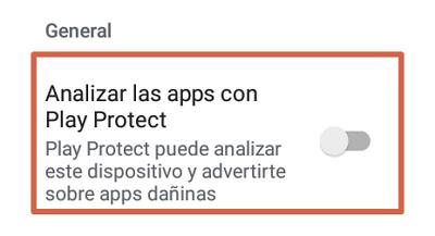Activar Google Play Protect 5